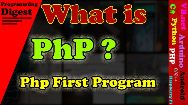 what is php?php first program