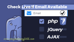 Check If Email Exists using ajax