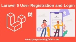 Laravek 6 Registration and login