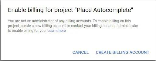 Create Billing Account