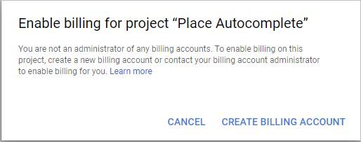 Create Billing Account