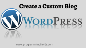Create a Blog in Wordpress