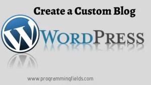 Create a Blog in Wordpress
