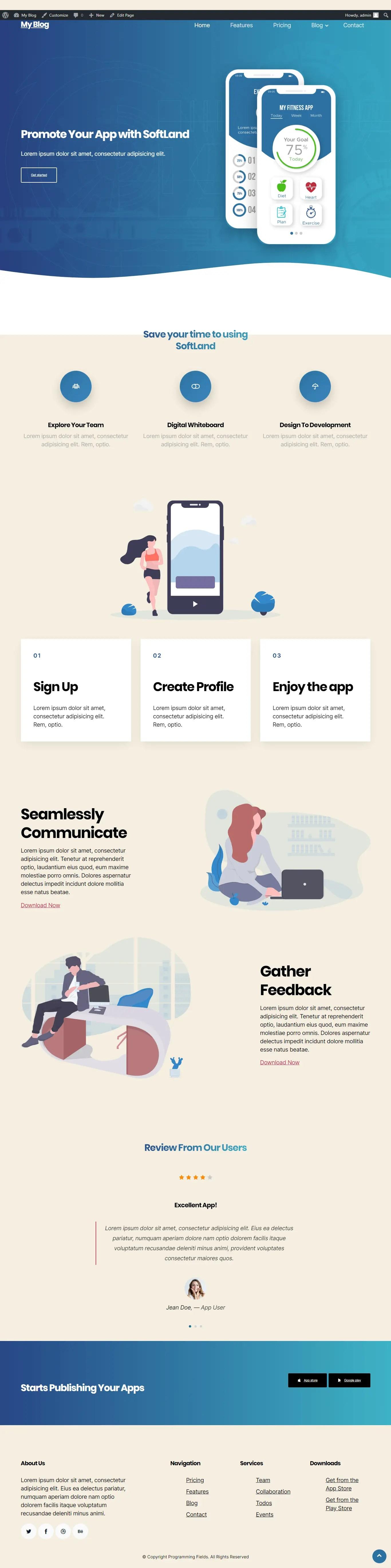 custom template result wordpress