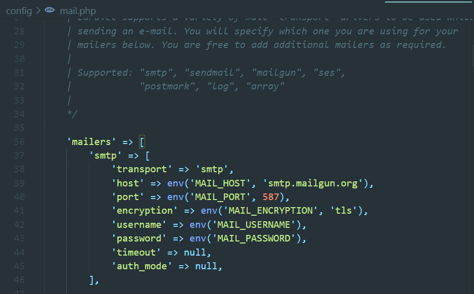 config/mail.php