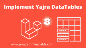 Yajra Datatables in Laravel 8