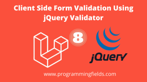 jQuery Form validation in laravel