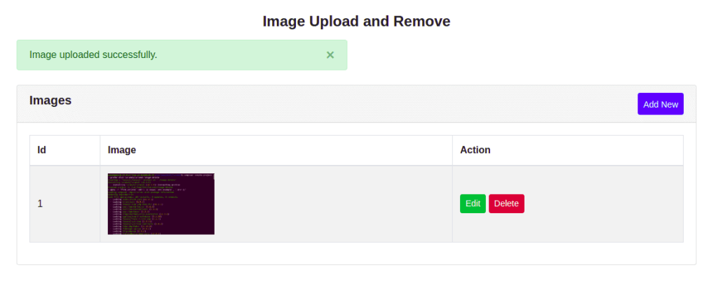 Image Uploaded Successfully