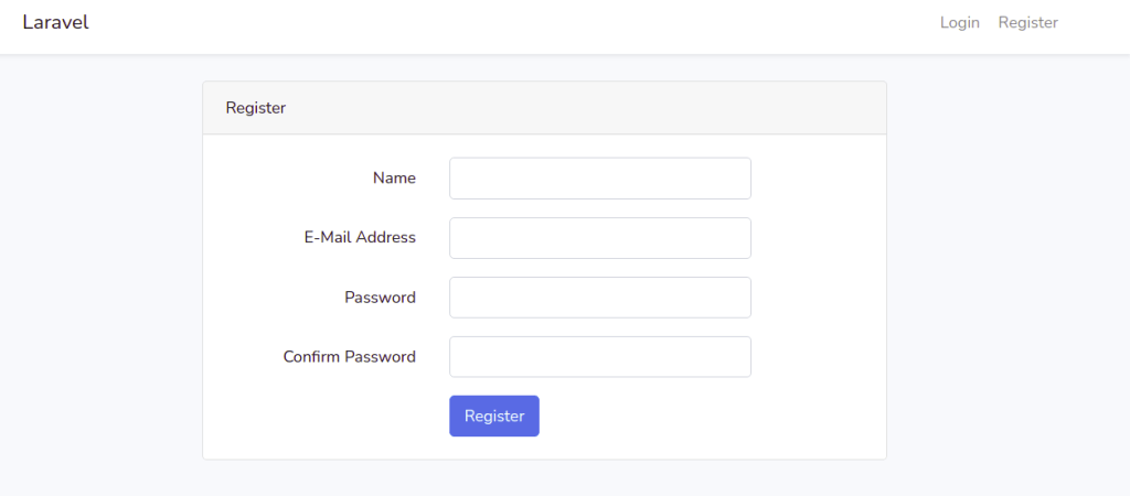 UI Auth Signup in Laravel 8