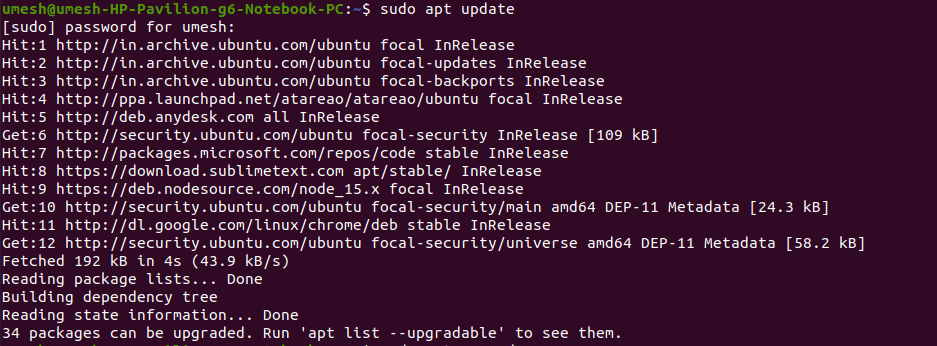 APT Update - Upgradable Packages LAMP Stack Ubuntu