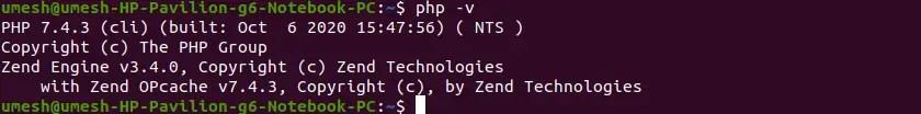 PHP Version in Ubuntu