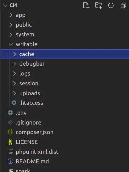 CodeIgniter 4 Cache Directory