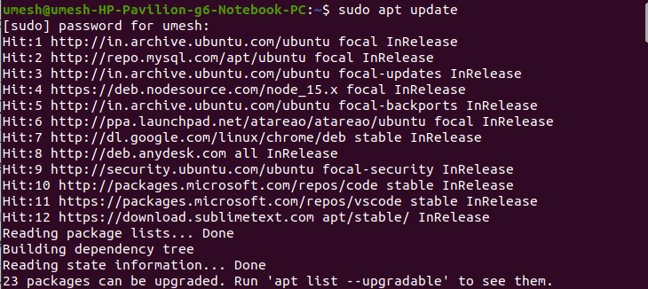 Check Available Updates in Ubuntu