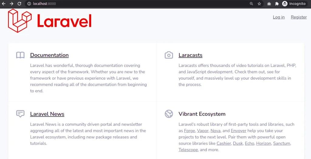 Laravel Homepae with UI