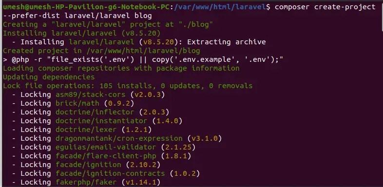 Laravel 8 Installation