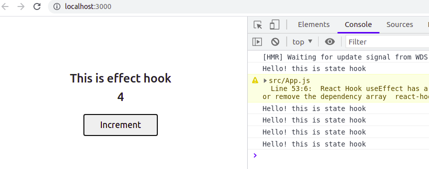 React useEffect and useState hook
