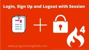 Codeigniter login and registration