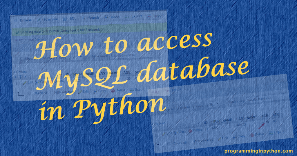 how to create gui for access database