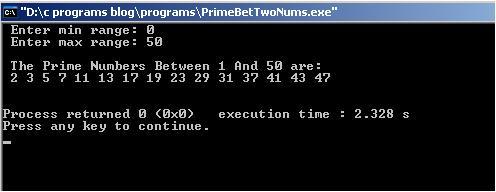 Prime-Between-Two-Numbers