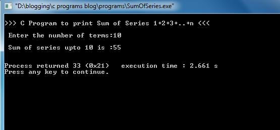 Sum-Of-Series-Output