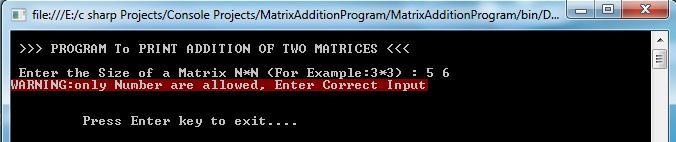 Matrix Addition Output_2