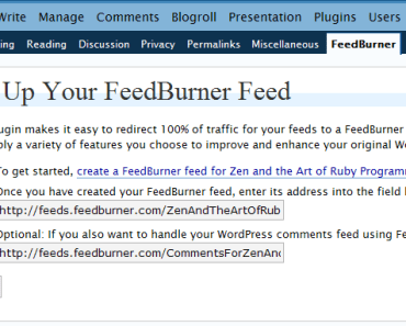 Redirecting Atom feeds from Typo and WordPress to FeedBurner