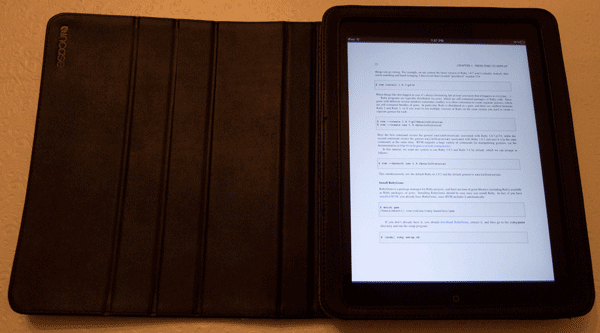 The Rails 3 Tutorial PDF on the iPad