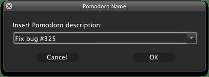 Naming a pomodoro