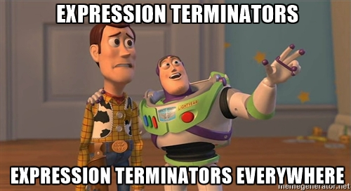 Expression terminators in Erlang
