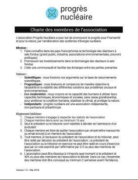 Charte des membres
