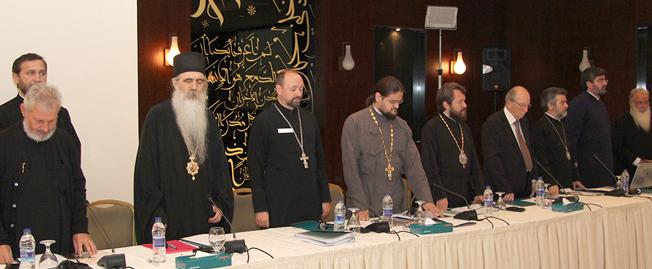 Comisión Mixta Internacional para el Diálogo Teológico entre la Iglesia Católica y la Iglesia Ortodoxa, en una de sus sesiones de encuentro.