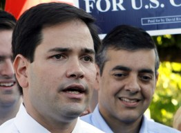 Sen. Rubio with good friend David Rivera (seen in background.)