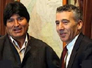 Evo Morales with Goldberg.