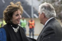 Roberta Jacobson and Rex Tillerson in Mexico City on Feb. 2.