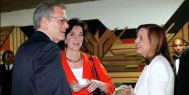 Negotiators Jeffrey DeLaurentis, Roberta Jacobson and Josefina Vidal in 2014.