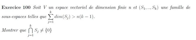 Dimension et intersection