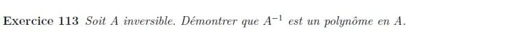 L'inverse d'un polynôme est un polynôme
