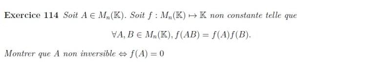 équation fonctionnelle multiplicative matrice