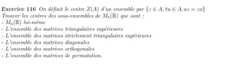 Centres de matrices