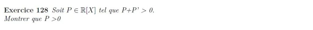 positivité de polynômes