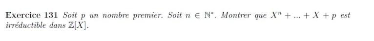 Irréductibilité dans Z[X]