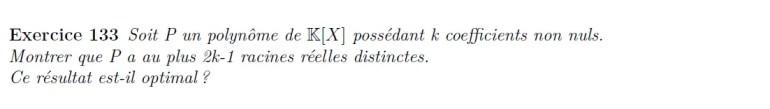 Coefficients et racines