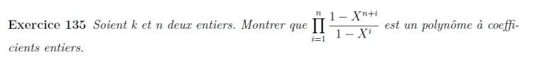 Polynôme à coefficients entiers