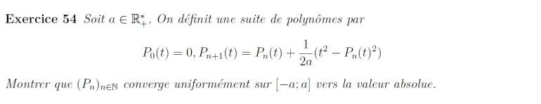 Convergence de suite de polynômes