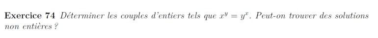 Equation d'entiers