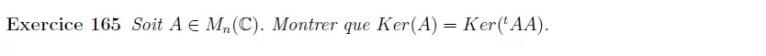 Ker(A) = Ker(AtA)
