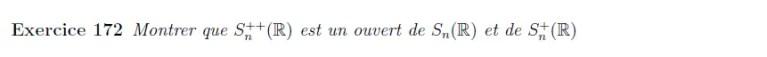 Ouverture matrices symétriques