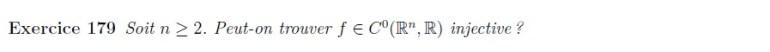 injectivité de R^n dans R