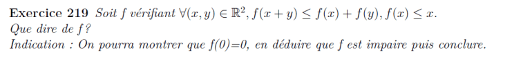 Inéquation fonctionnelle