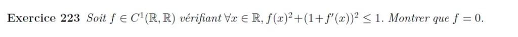 Equation fonctionnelle différentielle